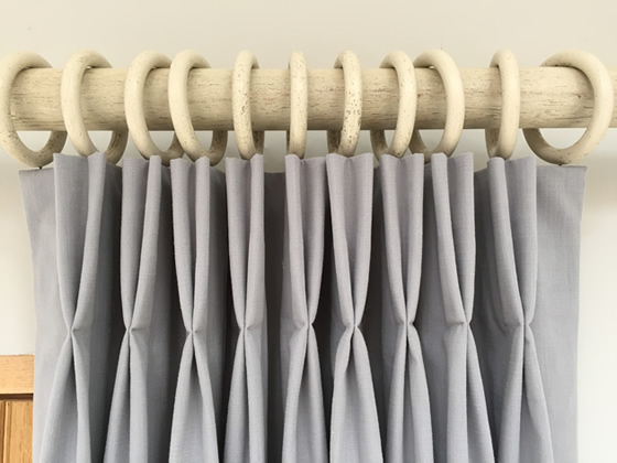 Stall Size Shower Curtain Liner Pinch Pleat Rings