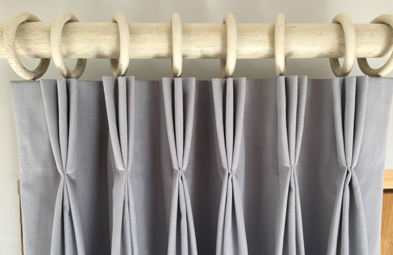 How to make a triple pleat curtain tutorial by Sew Helpful